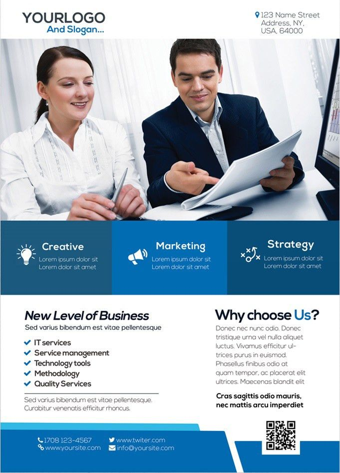 8 Free Sample Business Flyer Templates – Printable Samples