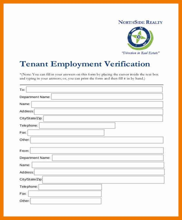 7+ Tenant Verification Form | Resume HolderVerification Form. Work ...