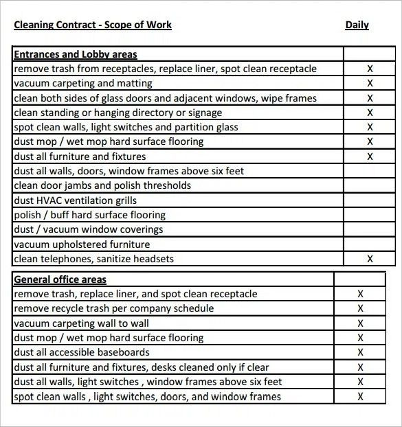Scope of Work Template - 31+ Free Word, PDF Documents Download ...