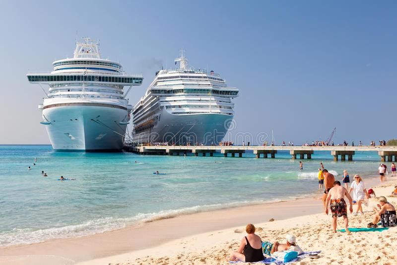 Cruise Ship Anchored In Grand Turk Editorial Photography - Image ...