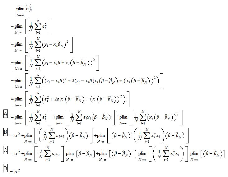 Properties of the OLS estimator