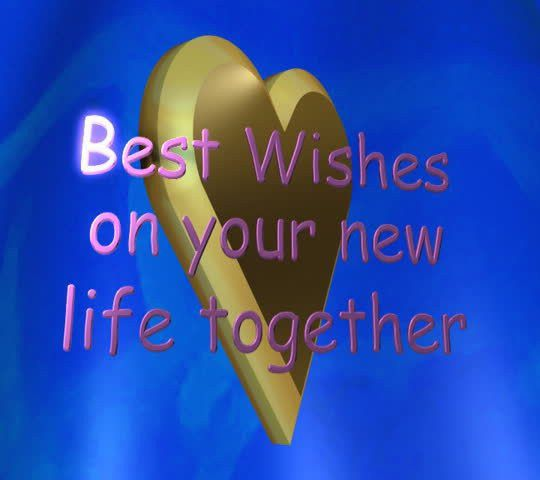 Best Wishes On Your New Life Together Lettered Animation Stock ...
