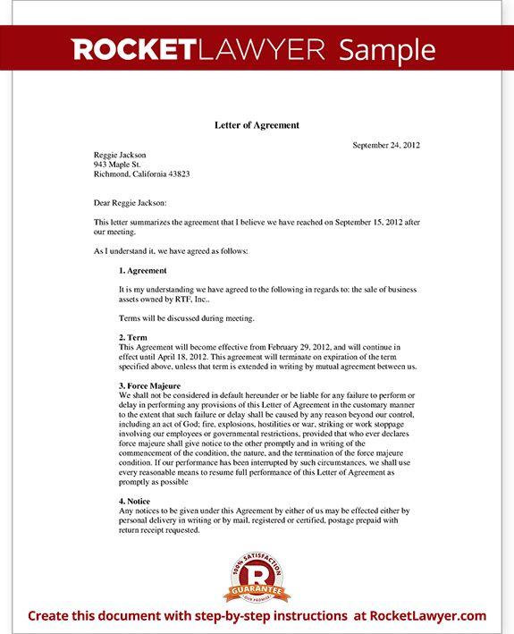 Business Agreement Sample Letter | The Best Letter Sample