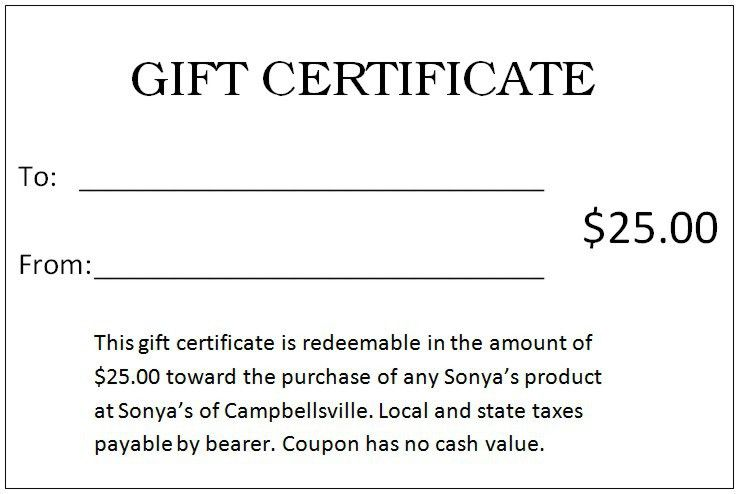 30 Printable Gift Certificates | Certificate Templates