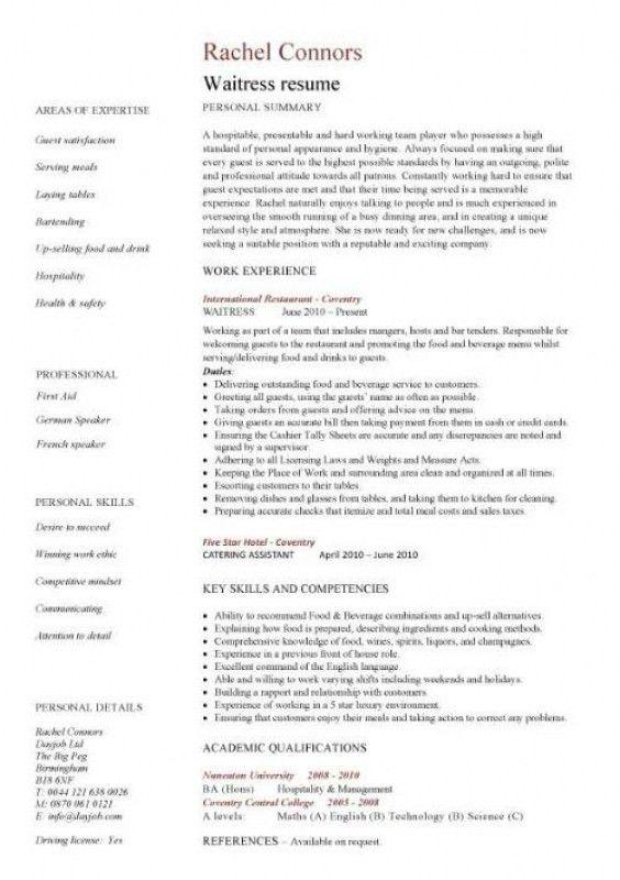 Waitress Resume Skills – Resume Examples