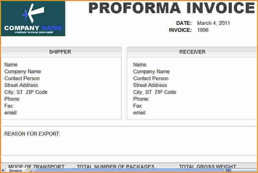 5+ proforma invoice template | Invoice Template Download