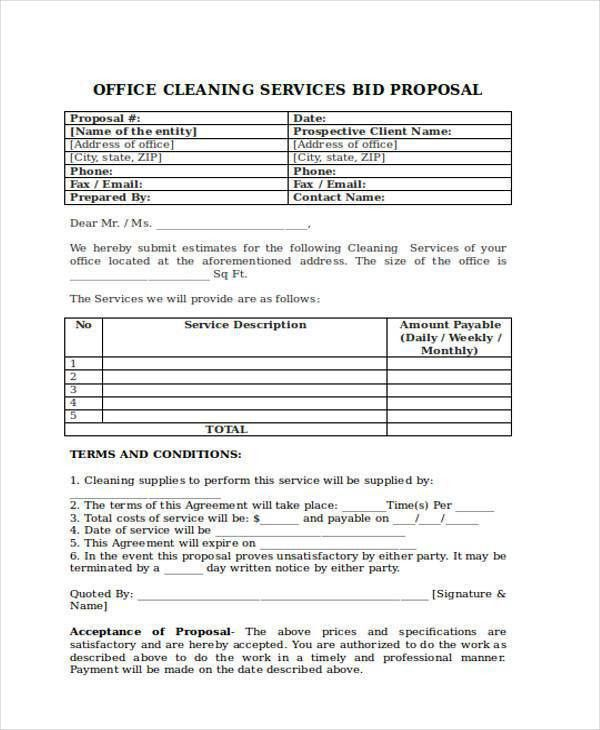 Proposal Forms in PDF