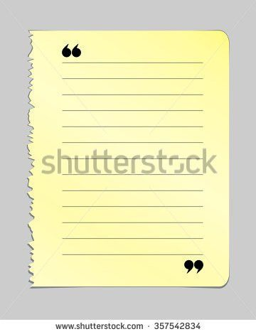 Realistic Torn Notebook Page Yellow Note Stock Vector 357542834 ...