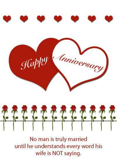 Free Printable Anniversary Card Template Example with Two Heart ...