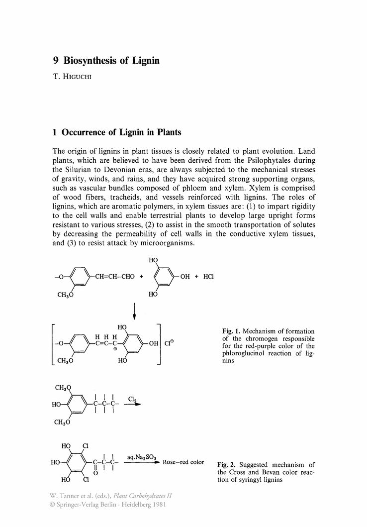 Biosynthesis of Lignin - Springer