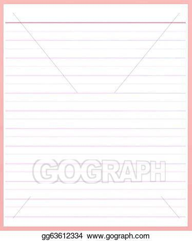 Stock Illustration - A sheet of pink color lined paper . Clipart ...