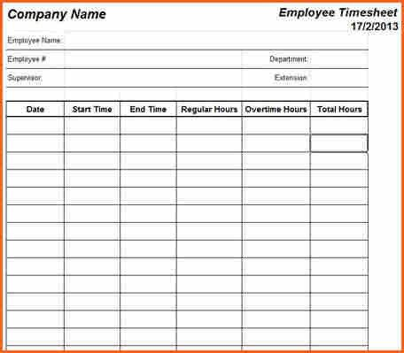 5+ weekly timesheet template - Budget Template Letter