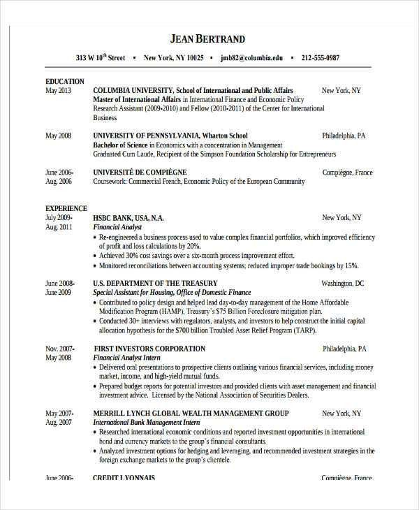 resume format of fresher 28 resume templates for freshers free