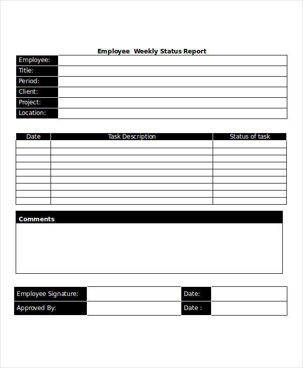 18+ Free Weekly Report Templates | Free & Premium Templates