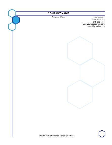 Hexagonal Business Letterhead
