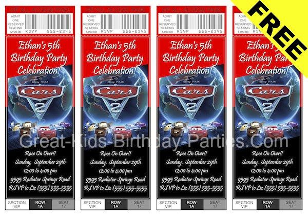 Birthday Invitation Template Trucks And Cars Free ...