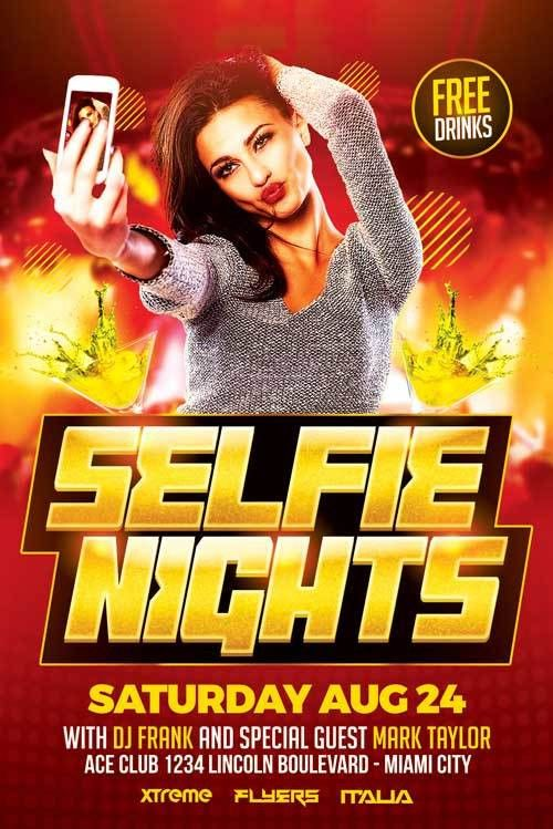 Selfie Party Flyer Template - http://xtremeflyers.com/selfie-party ...