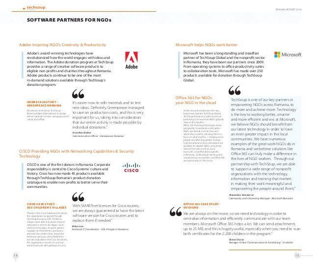 Asociatia Techsoup Romania - Annual Report 2014