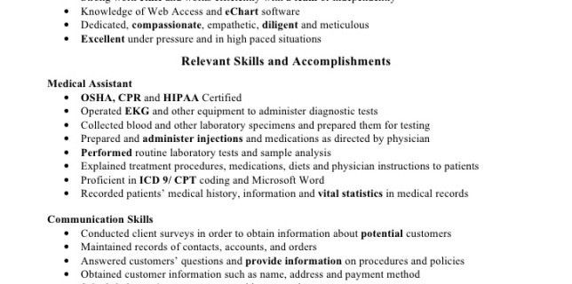Attractive Medical Assistant Resume Skills 1 Httpmedicalassistanthqnet 2 . Nice Ideas