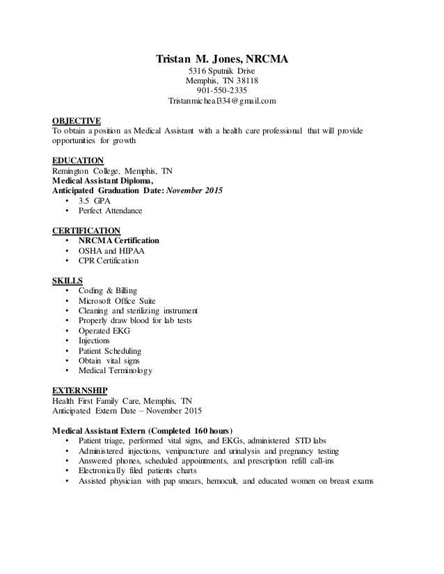 medical assistant resume template medical assistant resume ...