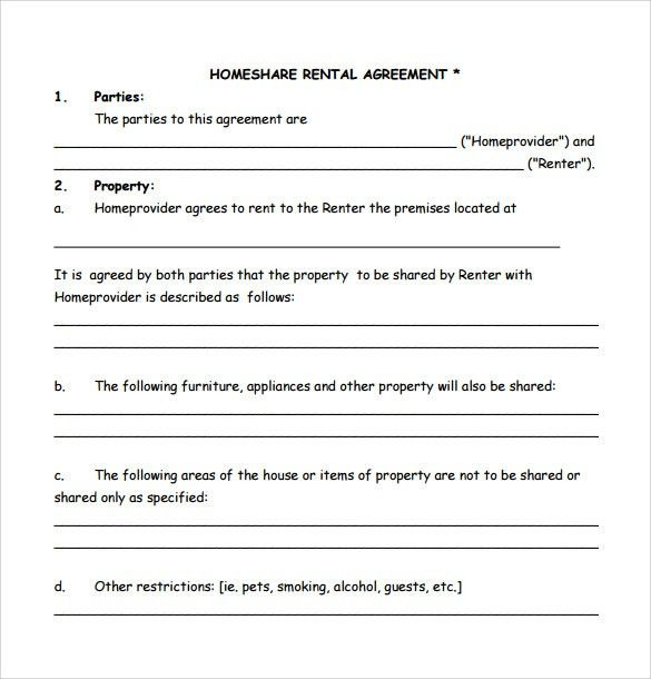 Home Rental Agreement. Room Rental Lease Agreement Template Room ...