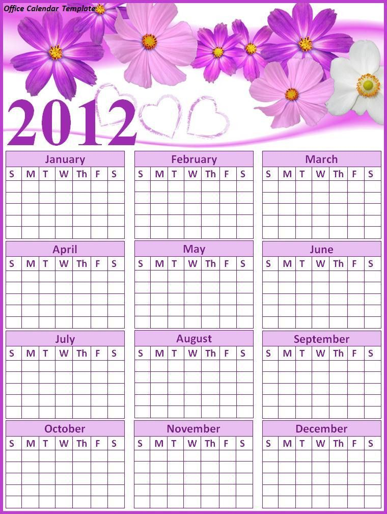 Office Calendar Template | Free Printable Word Templates,