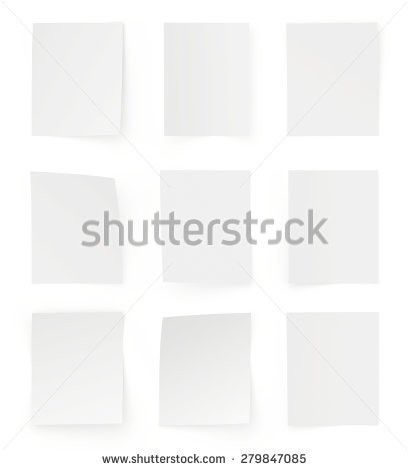Collection Various White Note Papers Ready Stock Vector 107835092 ...
