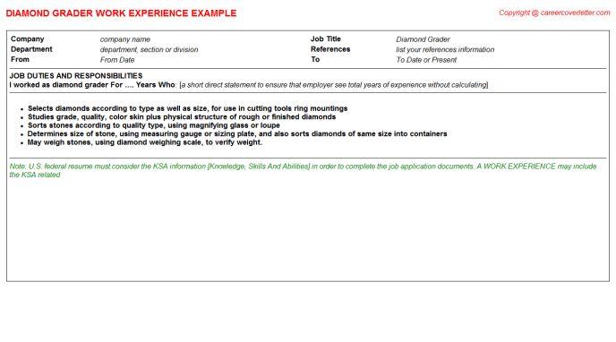 Diamond Grader Job Title Docs