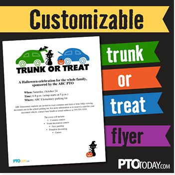 Grab our free customizable Trunk-or-Treat flyer to help promote ...