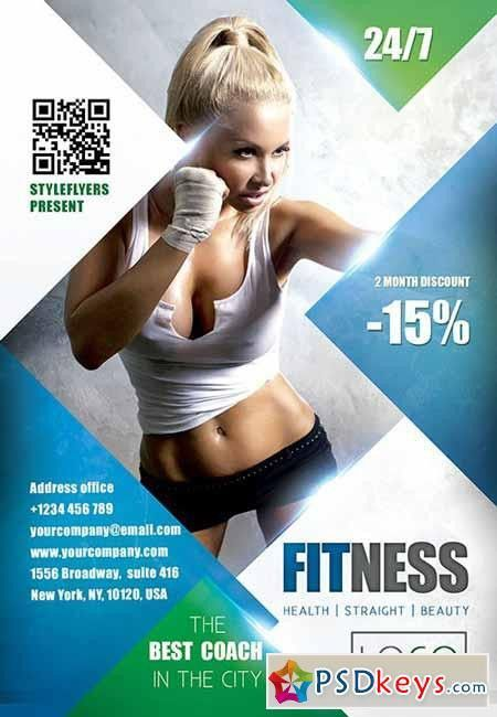 FITness PSD Flyer Template + Facebook Cover » Free Download ...