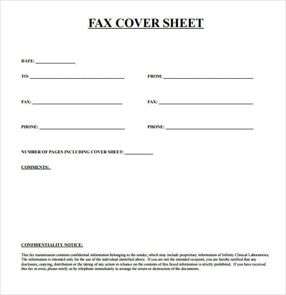 Free Printable Fax Cover Sheet Template PDF Word | Calendar ...