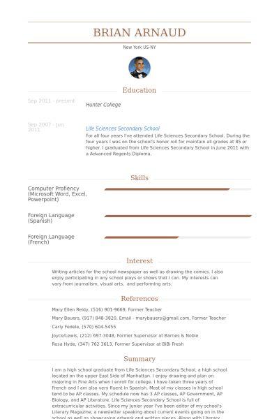 Babysitter Resume samples - VisualCV resume samples database