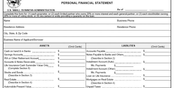 Personal Financial Statements Templates Financial Statements ...