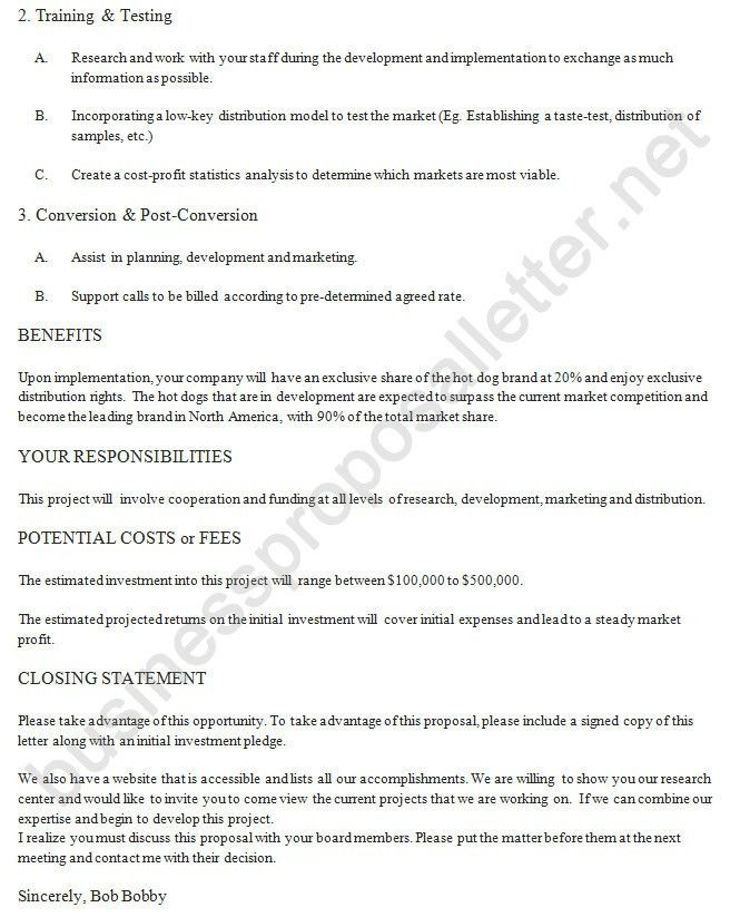 Business Proposal Cover Letter | Business Proposal Letter