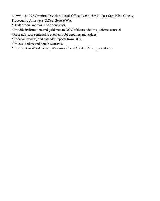 Probate Paralegal Resume Sample - http://resumesdesign.com/probate ...