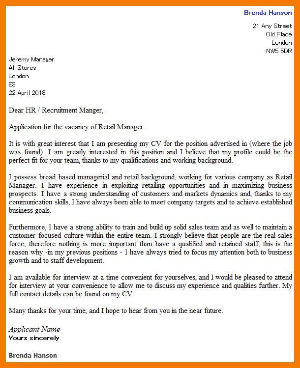 8+ retail cover letter sample | resume holder