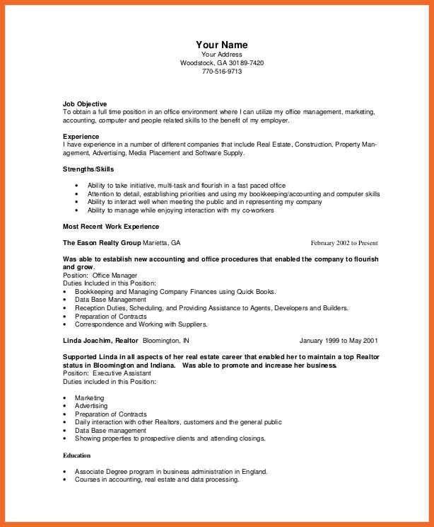 bookkeeper resume | sop example