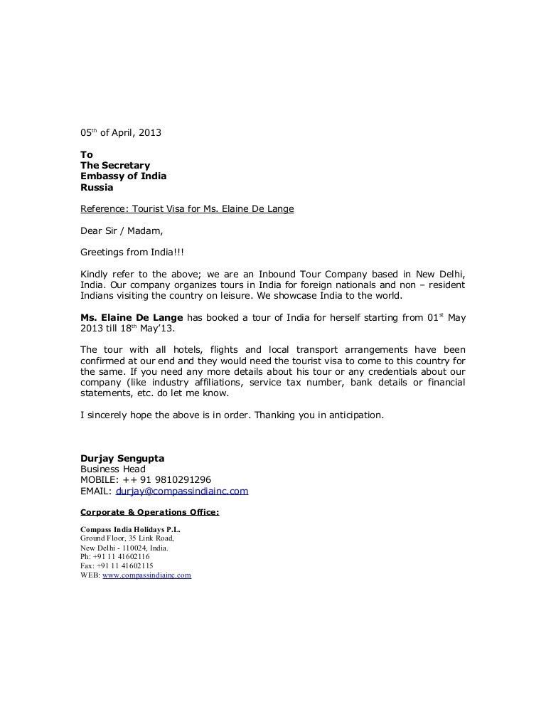 visa covering letter example date 12th march 2013 to the visa ...