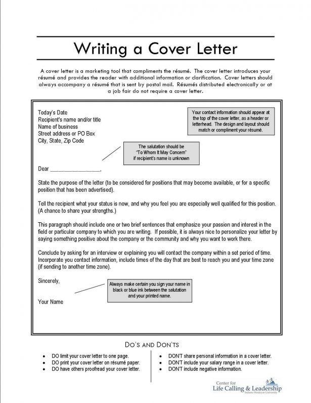 job fair cover letter
