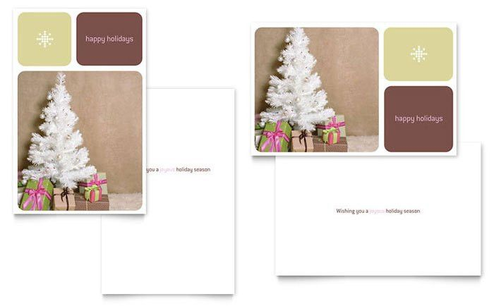 13 Christmas Card Template Layout Images - Christmas Greeting ...