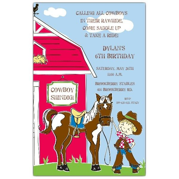 Buckeroo Cowboy Birthday Invitations | PaperStyle