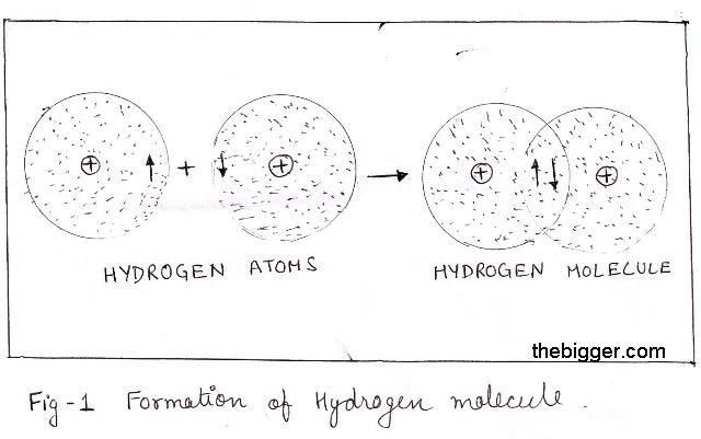 Explain how the single covalent bond is formed with example.