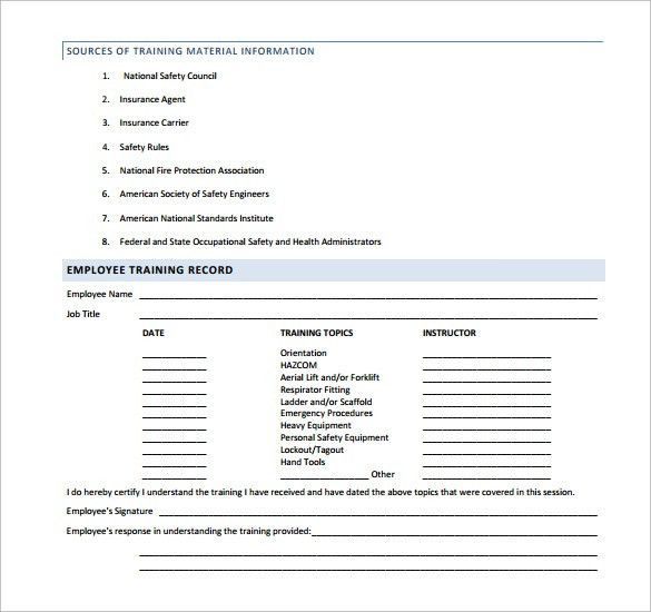Sample Safety Manual Template - 9 + Free Documents in PDF