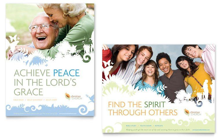 Christian Church Poster Template - Word & Publisher