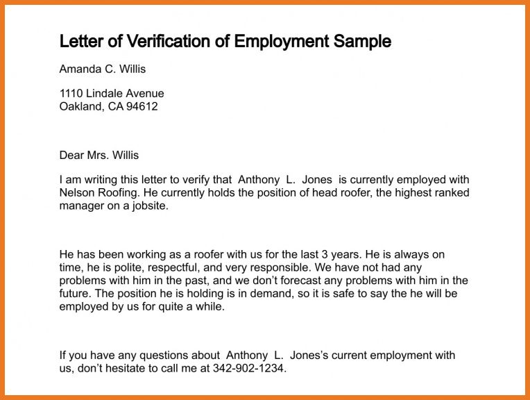 results verification of employment sample letter verifying ...