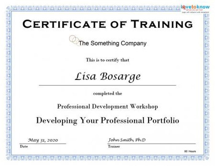 15 Training Certificate Templates   Free Download   DesignYep