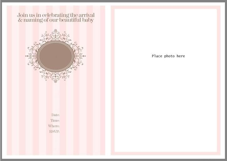 Template For Baptism Invitation Free - dhavalthakur.Com