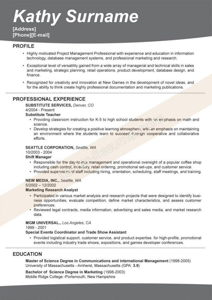 Effective Resume [Template.billybullock.us ]