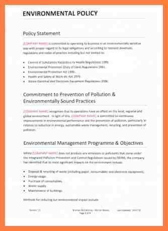 7+ company policy template   Company Letterhead