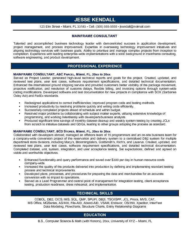 Consultant Resume Sample | berathen.Com
